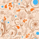 Floral background. Seamless pattern with flowers in peachy tones Stock Image