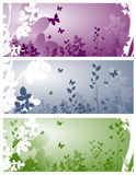Floral background. Banner vector illustration Royalty Free Stock Photo