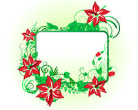 Floral background. For design use. Vector illustration Stock Photography