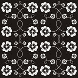 Floral background. Black and white background with flowers Stock Illustration