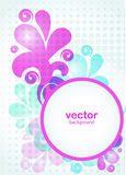 Floral background. Abstract pattern contains blue, pink, purple items, with space for text Stock Photos