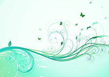 Floral background. Vector illustration of abstract turquoise floral Background Stock Image