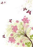 Floral background. With butterfly, element for design,  illustration Stock Photo