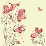 Floral background. Hand drawn pink floral background Royalty Free Stock Photos