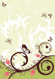 Floral background. With butterfly, element for design,  illustration Royalty Free Stock Images