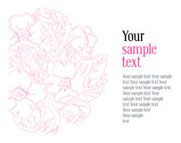 Floral background. Vector floral background in pink Royalty Free Stock Image