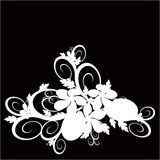 Floral background. (abstract vector ornament Royalty Free Stock Image