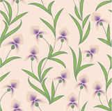 Floral background. Seamless floral vector pattern with iris stock illustration