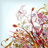 Floral background. Illustration drawing of floral background Royalty Free Stock Image
