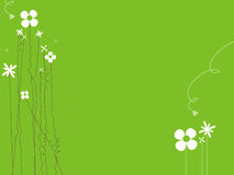 Floral background. Cute green color floral background Royalty Free Stock Image