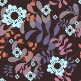Floral background. Folk motives seamless floral pattern Stock Illustration
