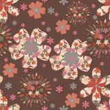 Floral background. Folk motives seamless floral pattern Stock Photos