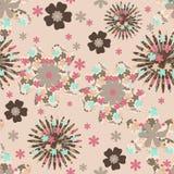 Floral background. Folk motives seamless floral pattern Stock Images