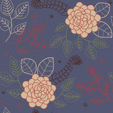 Floral background. Retro stylized floral seamless pattern royalty free illustration