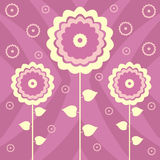 Floral background. Abstract decorative background with flowers Vector Illustration