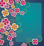 Floral background. Shiny floral background with colorful flowers Stock Photography