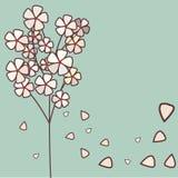 Floral background. Floral tree background,  illustration Stock Photo