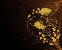 Floral background. For design use. Vector illustration Royalty Free Stock Photo