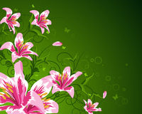 Floral background. For design use. Vector illustration Stock Photo
