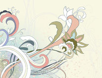 Floral Background. Hand drawn abstract floral background in muted colors Royalty Free Stock Photos