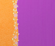 Floral background. Purple and orange background with flowers vector illustration