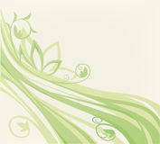 Floral background. Simple floral background with image of abstract grass Stock Photos