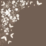 Floral background. Decorative brown floral background with place for text Stock Photo