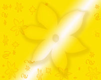 Floral background. Abstract yellow gradient floral background Stock Illustration