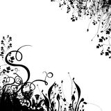 Floral Background #2. Floral background silhouette on white background royalty free illustration