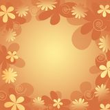 Floral background. Retro styled yellow orange  floral background Stock Image
