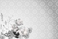 Floral Background. Abstract Floral motif for background with  flower illustration Royalty Free Stock Image