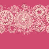 Floral background. (seamless pattern) line work Royalty Free Stock Photo