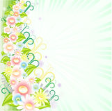 Floral background. With copy space for text Royalty Free Stock Photos