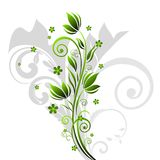 Floral Background. Abstract green floral motif illustration Royalty Free Stock Photos