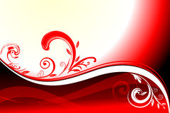 Floral Background. With red and black wave illustration Royalty Free Stock Photo