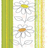 Floral background. The seamless floral background in green-yellow tones Stock Photo