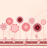 Floral background. The seamless floral background in rosa tones Stock Photos