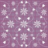 Floral background. A purple and white flower design Vector Illustration