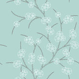 Floral background. Seamless retro pattern with floral ornament Royalty Free Stock Images