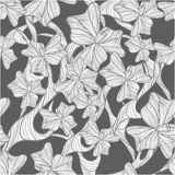 Floral background. Floral  background with bluedrawing poppy flowers Royalty Free Stock Photos