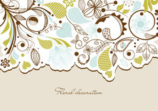 Floral background. Cute floral border for festive events Stock Photography