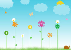 Floral background. For the spring with flowers Royalty Free Stock Photo