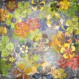 Floral background. Art grunge vintage floral background stock illustration