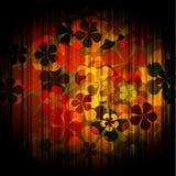 Floral background. Art grunge vintage floral background royalty free illustration