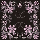 Floral background. Decorative background with pink flowers Royalty Free Illustration