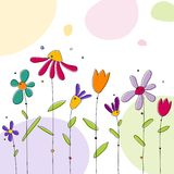 Floral background. Colorful graphic illustration. Simple design Royalty Free Stock Photos