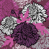 Floral background. Seamless pattern with flowers. Floral background Stock Illustration