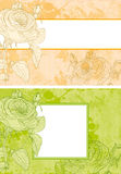 Floral background. Set of colorful backgrounds with flowers vector illustration