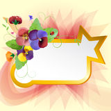 Floral background. Colorful pansies flowers Stock Image