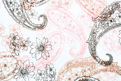 Floral Background. Element for design - floral background textile stylization Royalty Free Stock Photography